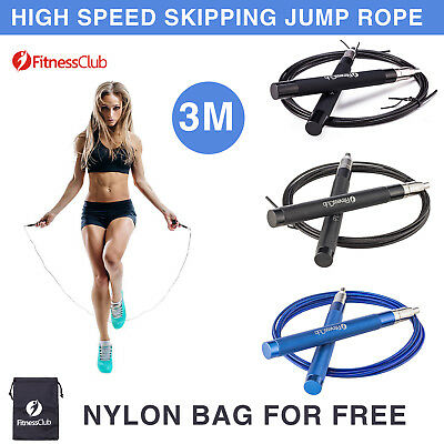 3M Adjustable High Speed Skipping Rope Boxing Jump Rope Cardio Gym Home Fitness