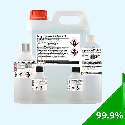 **OFFER** Isopropyl Alcohol 99.9% ACS - Choose Pack Size and Cap/Adapter