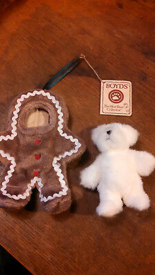 "Boyd's 5 1/2"" Lil' Ginger-- White Bear In A Gingerbread Outfit ""heirloom Series"""
