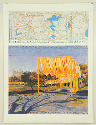 Christo - The Gates III, Kunstdruck auf Karton 60 x 80cm, Projekt New York 2005