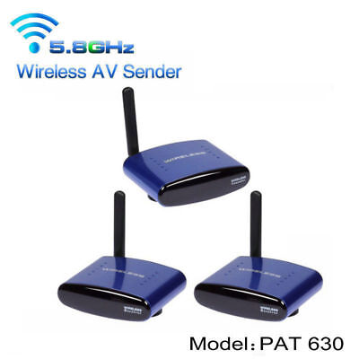 PAT-630 5.8GHz AV TV HD Sender Audio Video Wireless Emetteur 2 Récepteurs Bleu