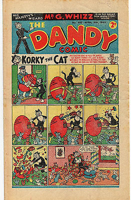 The Dandy Comic April 9Th 1949 Easter #393 Korky Keyhole Kate Desperate Dan Fine