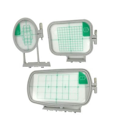 3x Embroidery Hoops Frame Set with Grid for Brother Embroidery Machine SE350