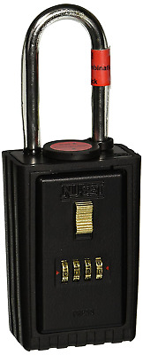 NU-SET 2040-3 4-Number Combination Lock Box with Combination Locking Shackle