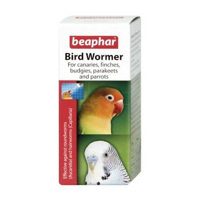 Beaphar Caged Aviary Bird Roundworm Hairworm Wormer Liquid 10ml