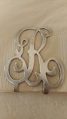 "Apollo Silver Co USA 925 Sterling Silver ""R"" Money Clip"