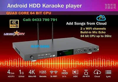NEW 64 BITS ANDROID KARAOKE 8866 4TB HDD WITH 8900 LAO's SONGS