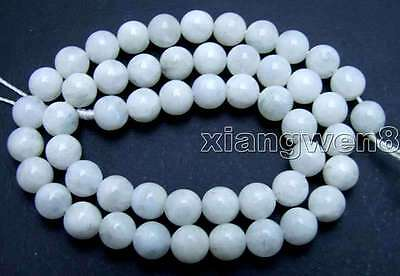"""SALE Round 8mm High quality Natural Moonstone gemstone Beads strand 15""""-los601"""