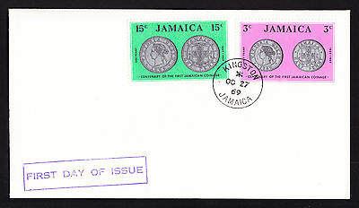 1969 Jamaica First Day of Issue FDC Cover Kingston Centenary National Coinage