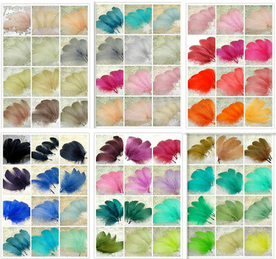 70 Colours Loose Goose Feathers for Millinery Hat Trimming Fascinators Craft