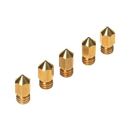 Kamo 5PCS 3D Printer 0.4mm Extruder Brass Nozzle Print Head for MK8 1.75mm AB...