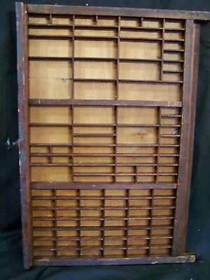 Antique Printers Wooden Tray Drawer Type Case Printing Shop Letter Press NICE!