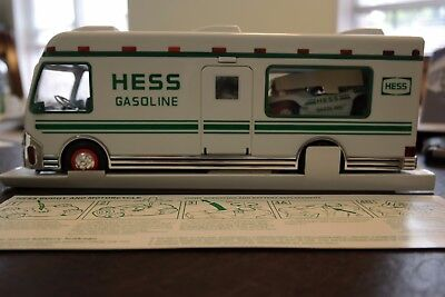 Hess 1998 Recreation Van with Dune Buggy and Motorcycle Toy Trucks - MINT IN BOX