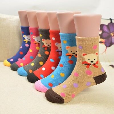 6 Pairs Socks Kids Boys Girls Cotton Childrens School Ankle Lot Mix Character