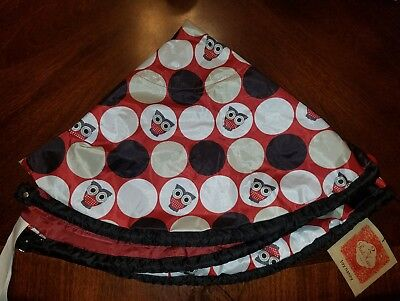 NWT 2 Red Hens Toy Nanny in Owl Dots Play Mat Travel Toy Beach Lawn Carrier Tote