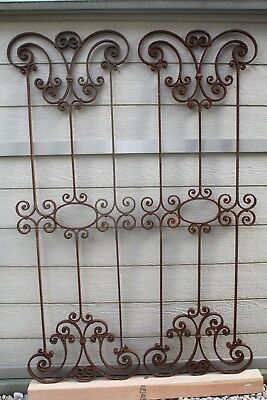 Antique Pair Wrought Iron Works