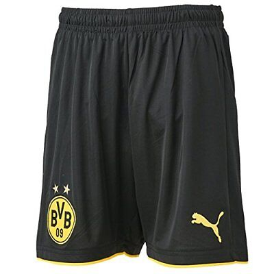 PUMA Bvb Replica Short Enfant Black/Cyber Yellow FR : XL (Taille Fabricant : 164