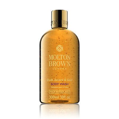 Molton Brown Oudh Accord & Gold Body Wash / Shower Gel 300ml - NEW