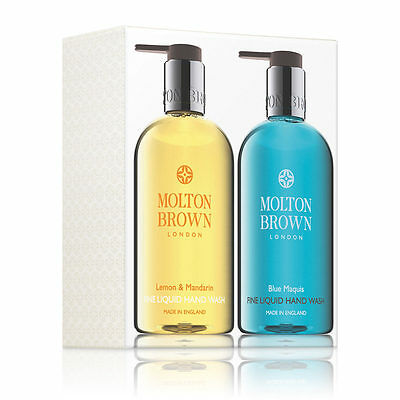 Molton Brown Lemon & Mandarin & Blue Maquis Hand Wash Set (2 x 300ml) - NEW