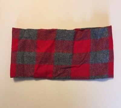 Red Gray Buffalo Plaid Infinity Scarf Handmade Etsy Fit 3-7 Yr Holiday Warm