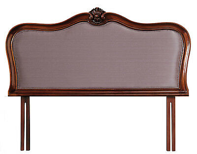 Ella French Mahogany Upholstered Headboard (Various Sizes & Fabric Colours)