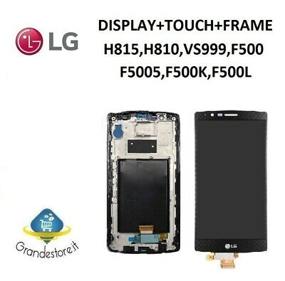 Lcd Display Lg G4 H815 H810 H811 Frame Touch Screen Nero Schermo Vetro Nuovo