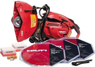 Hilti DSH 700X 70CC 14 in. Hand Held Gas Saw with Blades