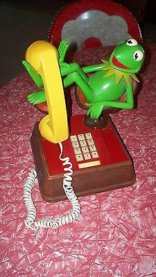 Kermit The Frog Push Button~Land Line~Collectible~Working Telephone