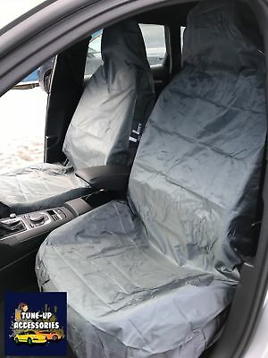 Audi A3 (03-12) Left Hand Drive Heavy Duty Waterproof Front Grey Seat Covers 1+1