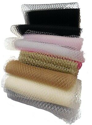 Bridal Wedding birdcage veiling Millinery hat veil net Per Meter various colours