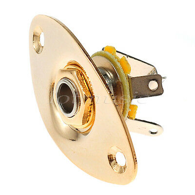 Light Gold Oval Guitar Bass Output Jack Socket for Electric Parts