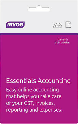 New MYOB - Essentials Accounting - One Payroll - 12mth Subscription