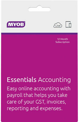 MYOB - Essentials Accounting - Unlimited Payroll - 12mth Suscription