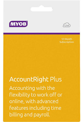 New MYOB - AccountRight Plus - 12mth Subscription from Bing Lee