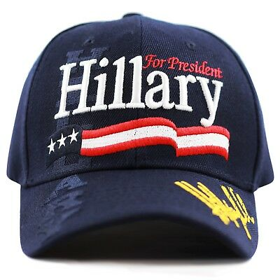 b7a7d602f55 The Hat Depot Unisex 2016 President Campaign Hillary for President Hat-Navy