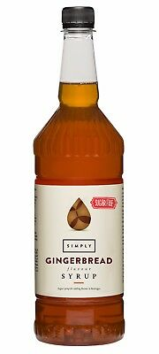 Simply Sugarfree Flavour Sirup Gingerbread 1 L,Lebkuchensirup ohne Zucker,PET,UK