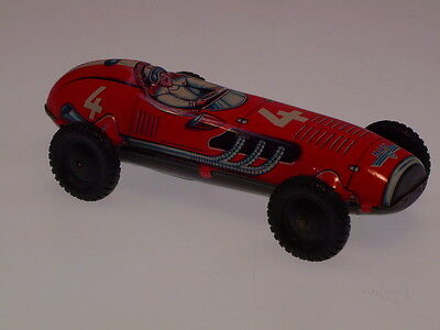 "GSPKW NEW PENNY TOYS  ""HUKI RACE CAR  NO. 4"", 9 cm, FRICTION OK,  NEW/NEU/NEUF !"
