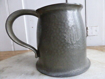 Antique Liberty pewter tankard dated 1939 Warric