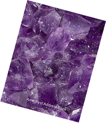 Amethyst Address Book: Large Print