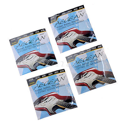 4 Set Durable Nickel Alloy Wound Electric Guitar Strings Guitar Parts