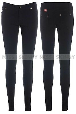 Miss Skinny Girls Super Skinny stretch Hipster sexy school trousers size 6 - 14