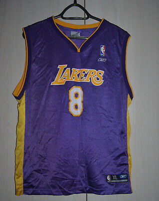 03e8ca8cde4 Nba Los Angeles Lakers Basketball Shirt Jersey Reebok Kobe Bryant  8 Bryant