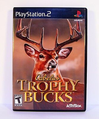 CABELA'S TROPHY BUCKS PlayStation 2 PS2 Game COMPLETE w/MANUAL 2007
