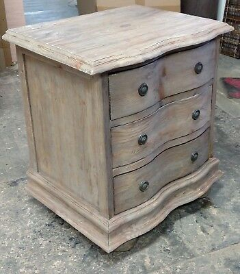 Padma's Plantation Salvaged Wood End Table With Drawers / Nightstand In Old Grey