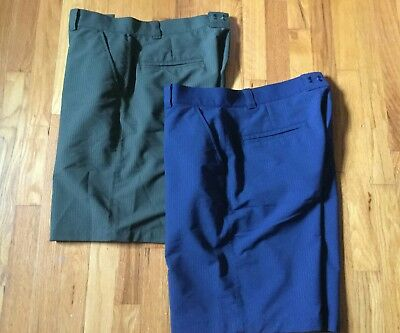 Mens Under Armour UA Flat Front Casual Golf Shorts Polyester Size 36 Lot of 2