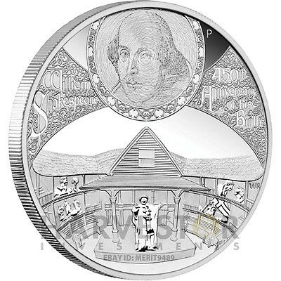 2014 450Th Anniversary Of The Birth Of William Shakespeare - 5 Oz. Silver Proof