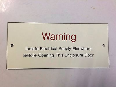 'Warning Legend' For Industrial Electrical Control Panel / Enclosure