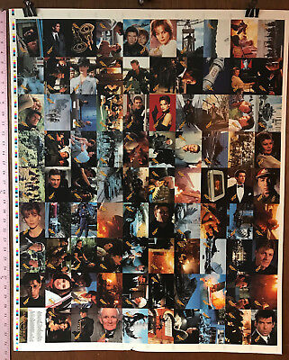 "JAMES BOND GOLDENEYE by INKWORKS: FULL UNCUT SHEET OF BASE CARDS (28""X35"")"