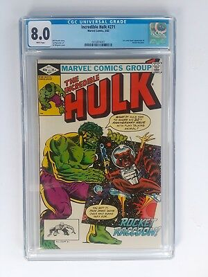 INCREDIBLE HULK #271 CGC 8.0 white pages