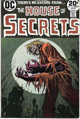 House of Secrets Comic Book #111 DC Comics 1973 FINE/FINE+